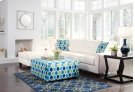 Kirwin Nuvella - White 2 Piece Sectional Product Image