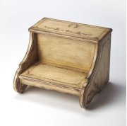 There's more than meets the eye with this unique step stool. Expertly crafted from poplar hardwood solids and wood products, this lovely step stool has attractively shaped sides with a delightful Gilted Cream hand painted finish. Sturdy enough to provide Product Image