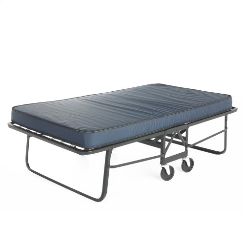 """Rollaway 1292P Folding Bed and 48"""" Anti-Bacterial Fiber Mattress with Angle Steel Frame and Poly Deck Sleeping Surface, 47"""" x 75"""""""