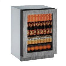 "Modular 3000 Series 24"" Glass Door Refrigerator With Integrated Frame Finish and Field Reversible Door Swing (115 Volts / 60 Hz)"