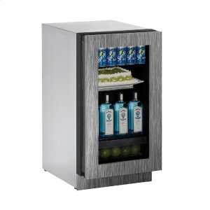 "U-LineModular 3000 Series 18"" Glass Door Refrigerator With Integrated Frame Finish and Field Reversible Door Swing (115 Volts / 60 Hz)"