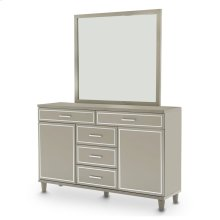 Dresser W/mirror Dove Gray