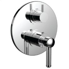 "7098en-tm - 1/2"" Thermostatic Trim With 3-way Diverter Trim (shared Function) in Polished K Gold"
