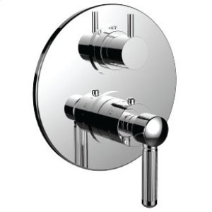 "7098en-tm - 1/2"" Thermostatic Trim With 3-way Diverter Trim (shared Function) in Antique Copper"