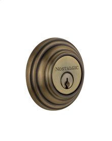 Nostalgic - Double Cylinder Deadbolt Keyed Differently - Classic in Antique Brass