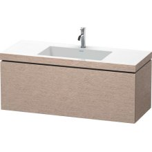 Furniture Washbasin C-bonded With Vanity Wall-mounted, Cashmere Oak