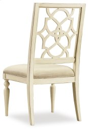 Dining Room Sandcastle Fretback Side Chair - Upholstered Seat