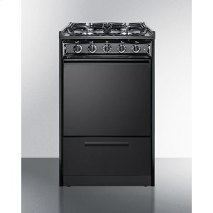 "Summit20"" Wide Slide-in Gas Range In Black With Sealed Burners and Electronic Ignition; Replaces Tnm114r/ttm1107crs"