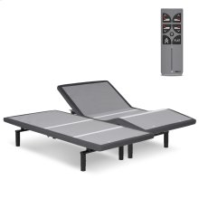 Falcon 2.0+ Low-Profile Adjustable Bed Base with Under-Bed Lighting, Charcoal Gray, Split King