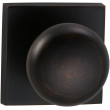 Interior Traditional Knob Latchset with Square Rose in (TB Tuscan Bronze, Lacquered)
