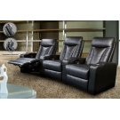 Pavillion Black Leather Three-seated Recliner Product Image