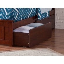 Two Urban Bed Drawers Twin/Full in Walnut