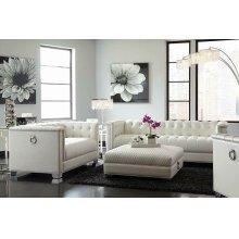 Chaviano Contemporary White Two-piece Living Room Set