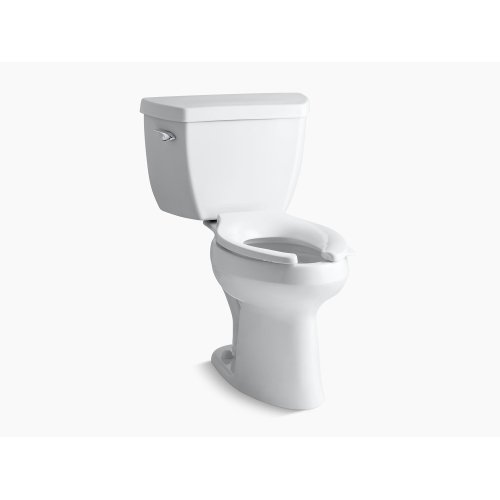 White Comfort Height Two-piece Elongated 1.0 Gpf Toilet With Pressure Lite Flush Technology and Left-hand Trip Lever