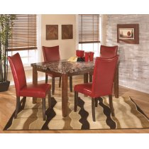 Lacey - Medium Brown 5 Piece Dining Room Set Product Image