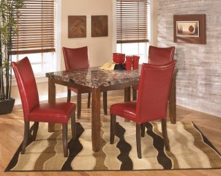 Lacey Red 5 Piece Dining Room Set