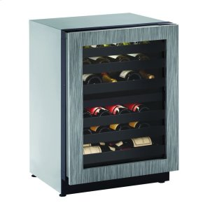 """U-Line2224zwc 24"""" Dual-zone Wine Refrigerator With Integrated Frame Finish and Field Reversible Door Swing (115 V/60 Hz Volts /60 Hz Hz)"""