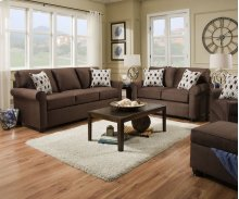 1530 JoJo Sleeper Loveseat (Full Sleeper)- Chocolate