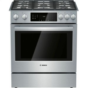 Bosch800 Series Gas Slide-in Range 30&/cooking/ranges/gas-slide-in-ranges/039;&/cooking/ranges/gas-slide-in-ranges/039; Stainless Steel HGI8056UC