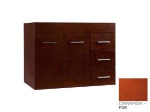 "Bella 31"" Wall Mount Bathroom Vanity Base Cabinet in Cinnamon - Doors on Left Product Image"