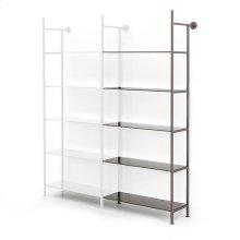 Add-on Bookshelf Size Gunmetal Finish Enloe Modular Bookshelf System
