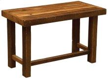 Barnwood Open Writing Desk - Antique Oak Top