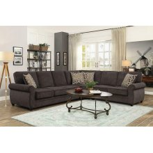 Kendrick Transitional Espresso Sectional