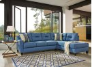 Kirwin Nuvella - Blue 2 Piece Sectional Product Image