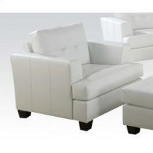 White Bonded Leather Chair