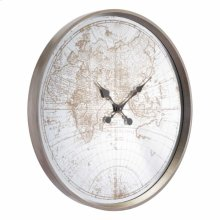 Hora Mundial Clock Antique Silver