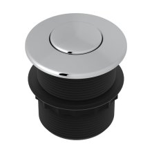 Polished Chrome Air Activated Switch Button Only For Waste Disposal