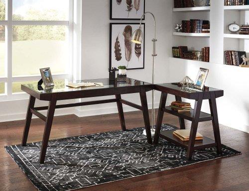 Chanceen - Dark Brown 2 Piece Home Office Set