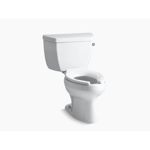 White Classic Two-piece Elongated 1.0 Gpf Toilet With Pressure Lite Flush Technology and Right-hand Trip Lever, Less Seat