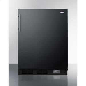 SummitCounter Height Break Room Refrigerator-freezer In Black With Nist Calibrated Thermometer and Alarm