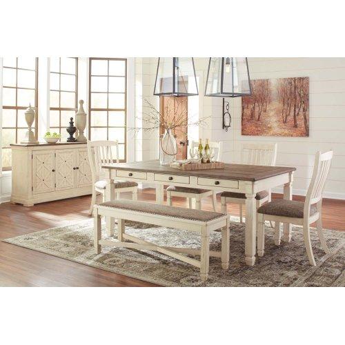 Bolanburg - Antique White 6 Piece Dining Room Set