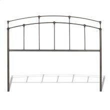 Fenton Metal Headboard Panel with Gentle Curves, Black Walnut Finish, Twin