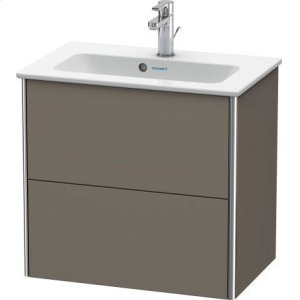 Vanity Unit Wall-mounted Compact, Flannel Grey Satin Matt Lacquer