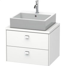 Brioso Vanity Unit For Console Compact, White Matt