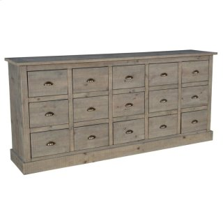 "Sebago 15Dwr Sideboard 79"" Natural"