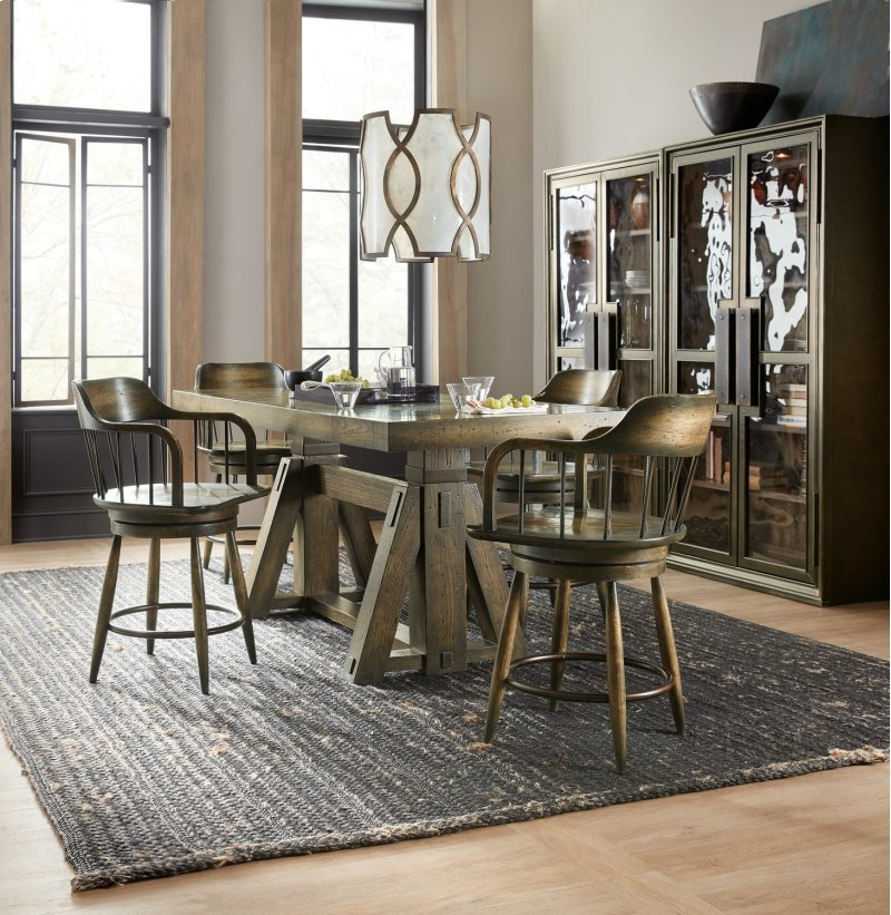 Furniture 165475906MTL Dining Room Crafted Display Cabinet