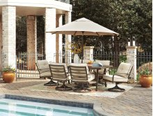 Predmore - Beige/Brown 4 Piece Patio Set