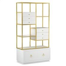 Living Room Swan Room Divider w/ File Storage
