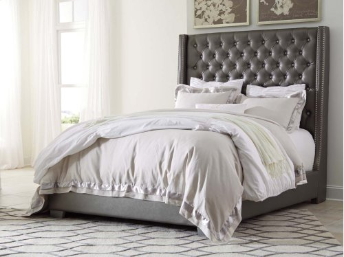 Coralayne - Silver 2 Piece Bed Set (King)