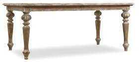 """Dining Room Chatelet Rectangle Leg Dining Table with Two 18"""" Leaves"""