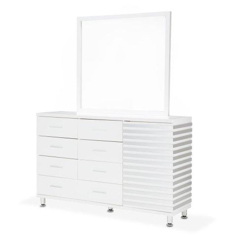 Dresser W/mirror Cloud White