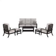 Castle Island - Dark Brown 6 Piece Patio Set