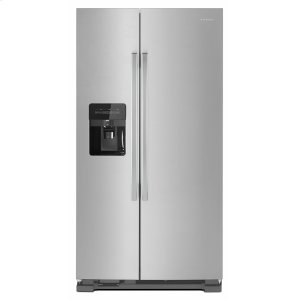 36-inch Side-by-Side Refrigerator with Dual Pad External Ice and Water Dispenser - Black-on-Stainless - BLACK-ON-STAINLESS