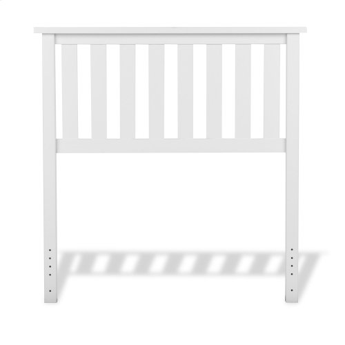 Belmont Wooden Headboard Panel with Slatted Grill Design, White Finish, Twin