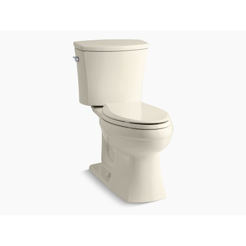 Almond Comfort Height Two-piece Elongated 1.6 Gpf Toilet With Aquapiston Flushing Technology and Left-hand Trip Lever, Seat Not Included
