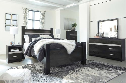 Starberry - Black 3 Piece Bed Set (Queen)